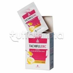 Tachifludec 10 Bustine Limone e Miele per Raffreddore e Influenza Libera Naso e Riduce Febbre e Dolore