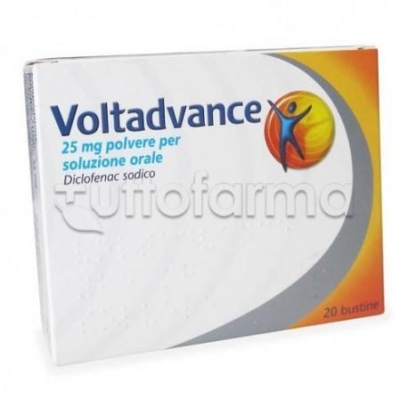 Voltadvance Polvere 20 Bustine 25 mg Antinfiammatorio ed Antidolorifico