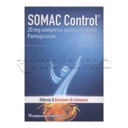 Somac Control 14 compresse grastroresistenti 20 mg Gastroprottetore per Reflusso e Bruciore di Stomaco