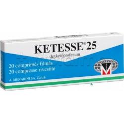 Ketesse 20 Compresse Rivestite 25 mg Antinfiammatorio ed Antidolorifico