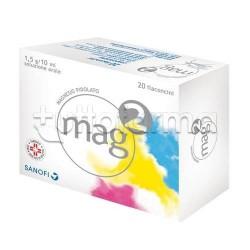 Mag 2 20 Flaconcini per Stanchezza e Stress 10 ml 1,5gr/10ml Magnesio