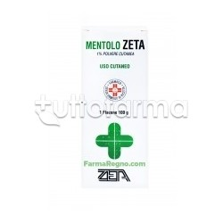 Mentolo Zeta Talco Mentolato 1% Flacone 100 gr