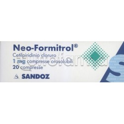 Neoformitrol 20 Compresse Orosolubili Senza Zucchero 1 mg per Mal di Gola