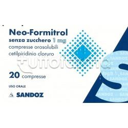 Neoformitrol 20 Compresse Orosolubili Senza Zucchero per Mal di Gola