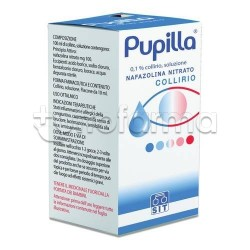 Pupilla Collirio Flacone 10 ml 0,1% per Occhi Arrossati ed Irritati