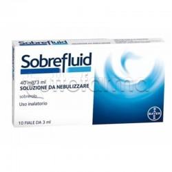 Sobrefluid per Aerosol 10 fiale 40 mg 3 ml Fluidificante per Tosse e Catarro