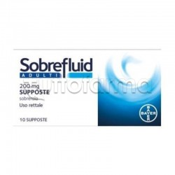 Sobrefluid Adulti 10 Supposte 200 mg Fluidificante per Tosse e Catarro