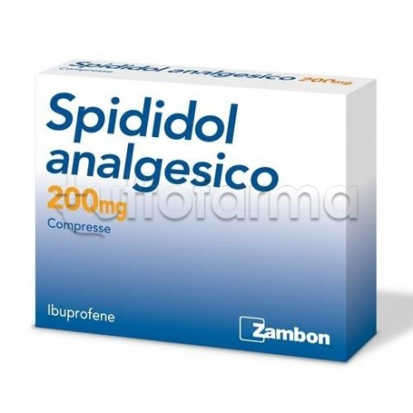 Spididol Analgesico Antinfiammatorio ed Antidolorifico ad Azione Rapida 12 Compresse 200 mg