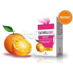 Tachifludec 10 Bustine Arancia per Raffreddore e Influenza Libera Naso e Riduce Febbre e Dolore