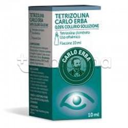 Tetrizolina Carlo Erba Collirio 10 ml 0,05% per Occhi Irritati ed Arrossati