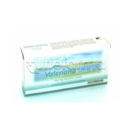 Valeriana Alfa Tranquillante Naturale per Ansia e Insonnia 30 Compresse Rivestite 100 mg