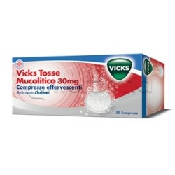 Vicks Tosse Mucolitico 20 Compresse Effervescenti per Tosse e Catarro
