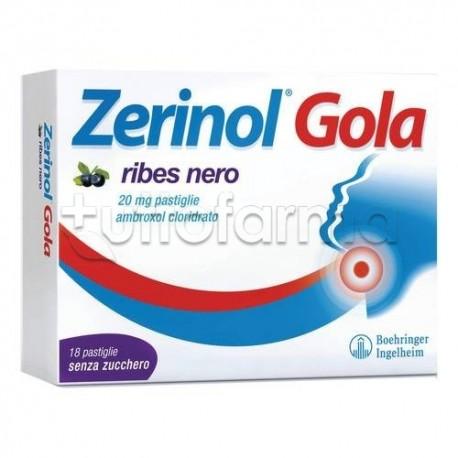 Zerinol Gola Ribes 18 Pastiglie 20 mg per Ridurre Mal di Gola
