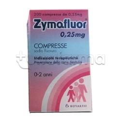 Zymafluor Fluoro per Denti Bambini 200 Compresse 0,25 mg