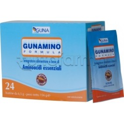 Guna Gunamino Formula 24 Buste con Aminoacidi Essenziali per Diete e Sport