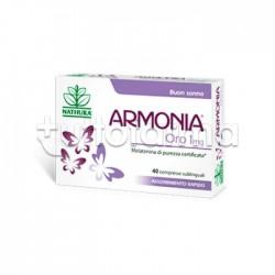 Armonia Oro 1 mg Melatonina 40 Compresse Sublinguali per Prendere e Mantenere il Sonno