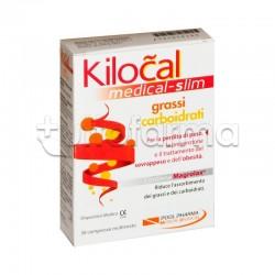 Kilocal Medical Slim Grassi E Carboidrati per Perdita di Peso 30 Compresse