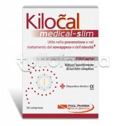 Kilocal Medical Slim Integratore per Ridurre Assorbimento Carboidrati 30 Compresse