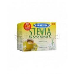 Hermesetas Stevia Dolcificante Alimentare 50+10 Bustine