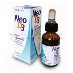 JuniaPharma Neo D3 Integratore per Difese Immunitarie Gocce 20 ml