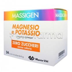 Massigen Integratore Magnesio e Potassio Senza Zuccheri 24 Bustine