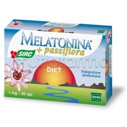 Melatonina Diet Integratore contro Insonnia 1mg Melatonina 30 Compresse