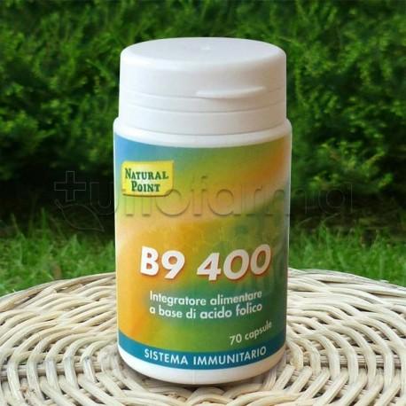 Natural Point B9 400 Integratore di Acido Folico 70 Capsule