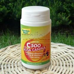 Natural Point C 500 + Rosa Canina Integratore Vitamina C per Sistema Immunitario 100 Capsule