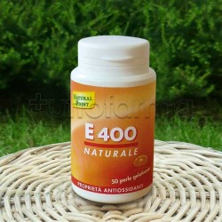 Natural Point E400 Integratore di Vitamina E Antiossidante 50 Perle