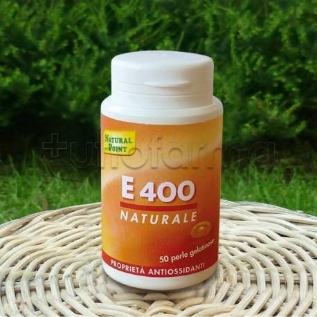 Natural Point E400 Integratore di Vitamina E Antiossidante 50 Perle