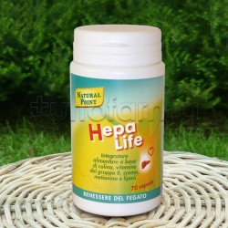 Natural Point Hepalife Integratore per Abbassare Colesterolo 70 Capsule