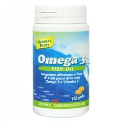Natural Point Omega 3 Fish Oil Integratore per Colesterolo e Cuore 120 Perle