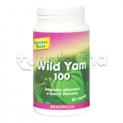 Natural Point Wild Yam 20% Integratore per Menopausa e Disturbi Mestruali 80 Caspule