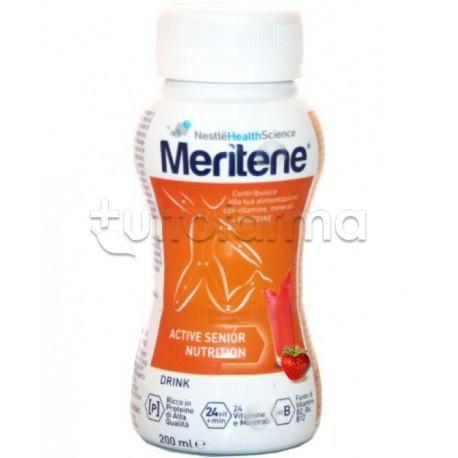 Nestlè Meritene Protein Drink Per Nutrizione ed Energia 200 ml Gusto Fragola