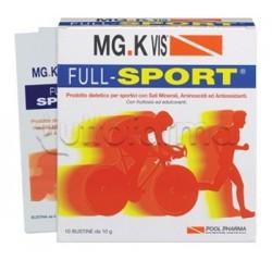 Mg-K Vis Full Sport Integratore per Sportivi 10 Bustine da 10 Gr