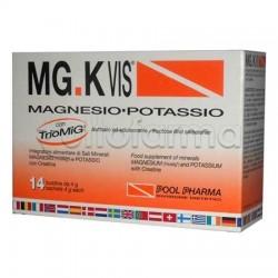 MGK VIS Integratore con Magnesio Potassio e Creatina 14 Bustine Gusto Arancia