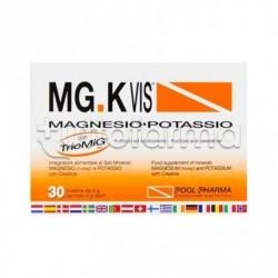 MGK VIS Integratore con Magnesio Potassio e Creatina 30 Bustine Gusto Arancia