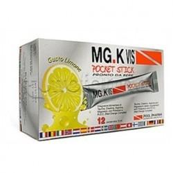 MGK VIS Pocket Stick Integratore con Magnesio e Potassio 12 Bustine Liquide gusto Limone