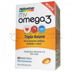 Multicentrum My Omega 3 per Benessere Cuore, Funzione Cerebrale e Vista 60 Perle