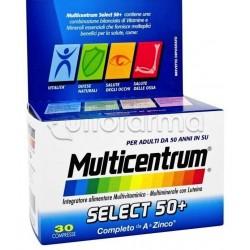 Multicentrum Select 50 + Multivitaminico per Adulti dai 50 anni 30 Compresse