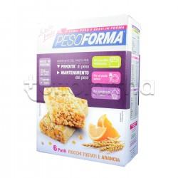 Pesoforma Barretta Cereali E Arancia Sostituto Pasto 12 Pezzi per 6 Pasti