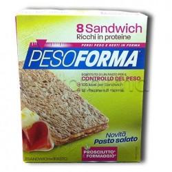 Pesoforma Sandwiches Prosciutto E Formaggio 8 Pezzi