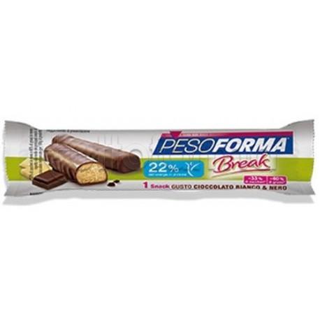 Pesoforma Break Snack Cioccolato Bianco e Nero 1 Pezzo