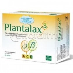 Plantalax Ace con Semi di Psillio per Regolarità Intestinale 20 Bustine