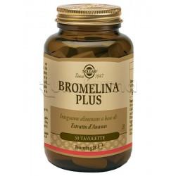 Solgar Bromelina Plus Gambo Ananas per Digestione e Gonfiore 30 Tavolette