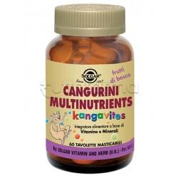 Solgar Cangurini Multinutrients Integratore MultiVitaminico 60 Tavolette Masticabili Frutti di Bosco