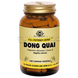 Solgar Dong Quai Integratore per Disturbi Mestruali e Menopausa 100 Capsule Vegetali