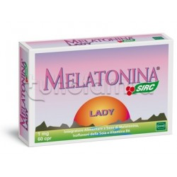 Sirc Melatonina Lady Integratore per Sonno 60 Compresse