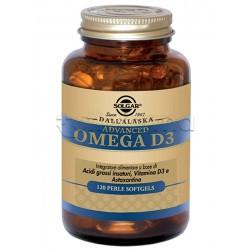 Solgar Advanced Omega D3 Integratore per Colesterolo e Antiossidante 120 Perle