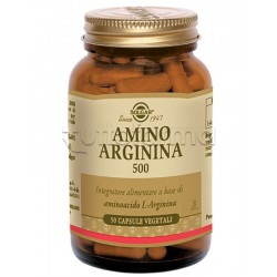 Solgar Amino Integratore Arginina 500 50 Capsule Vegetali